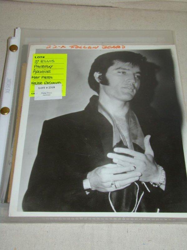2318: Photo Lot. Elvis.