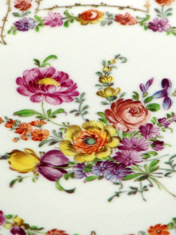 41: 2 VINTAGE DRESDEN CHINA HANDPAINTED PLATES - 2
