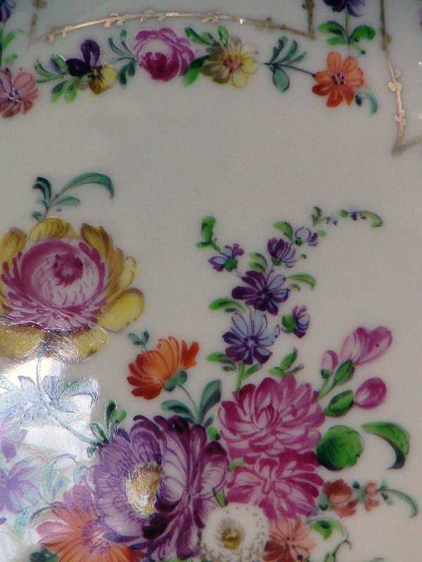 41: 2 VINTAGE DRESDEN CHINA HANDPAINTED PLATES - 3