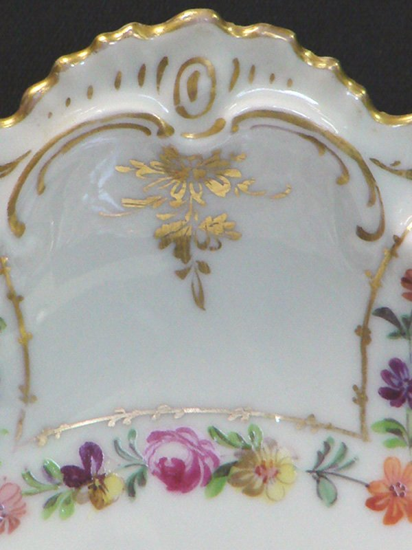 41: 2 VINTAGE DRESDEN CHINA HANDPAINTED PLATES - 4