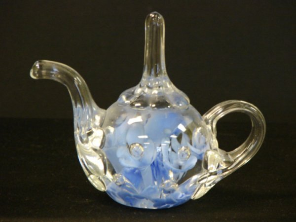 63: VINTAGE JOE ST CLAIR TEAPOT PAPERWEIGHT
