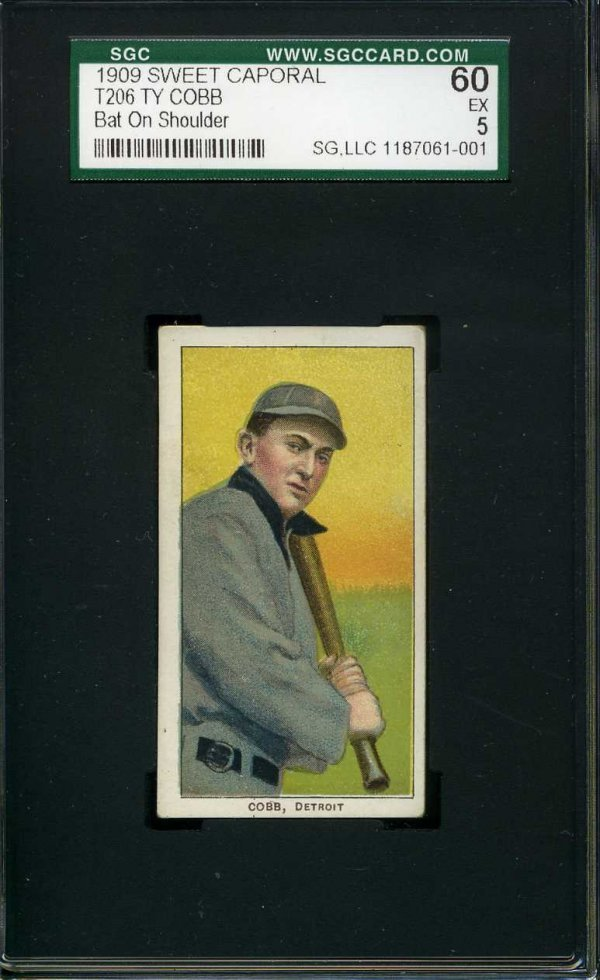 1011: 1909 T-206 Sweet Caporal Cobb. Graded.