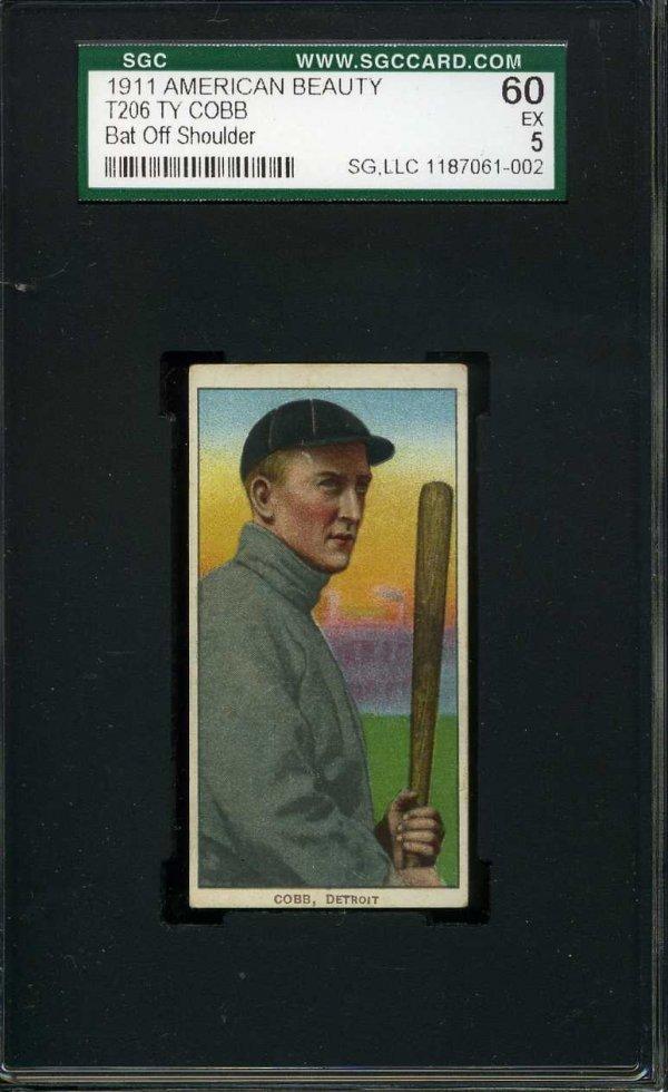 1012: 1911 T-206 American Beauty. Cobb. Graded.