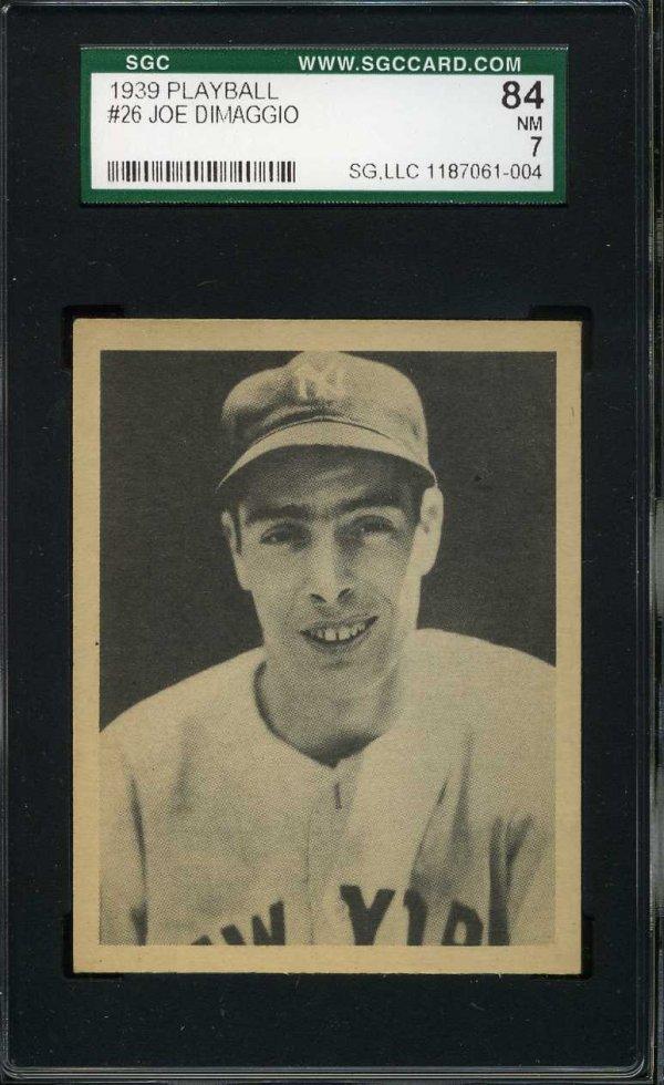 1014: 1939 Playball Dimaggio. Graded.
