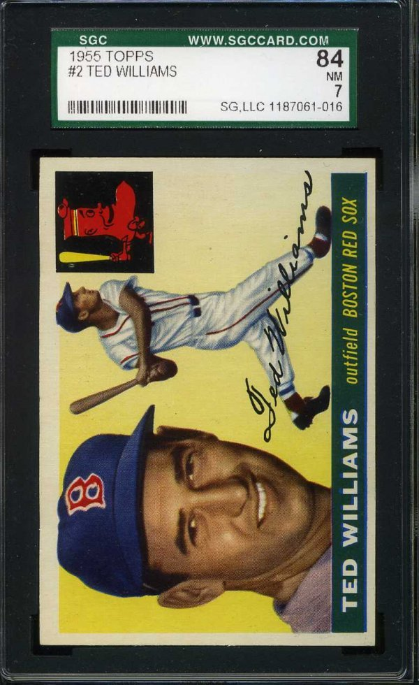 1016: 1955 Topps Ted Williams Graded.