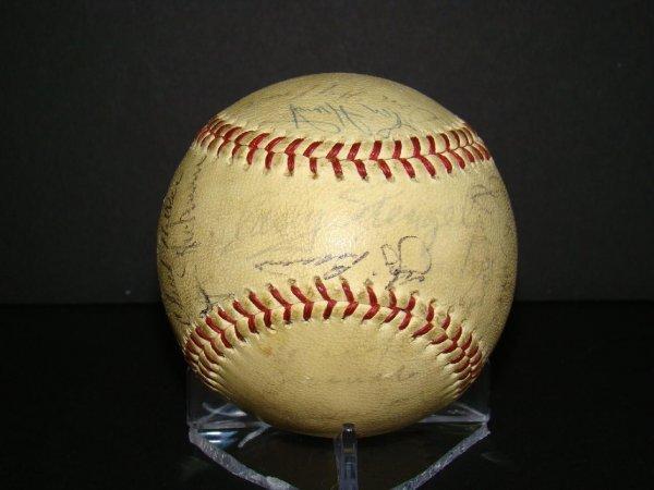 1020: Circa 1965 Signed Mets Team Ball.