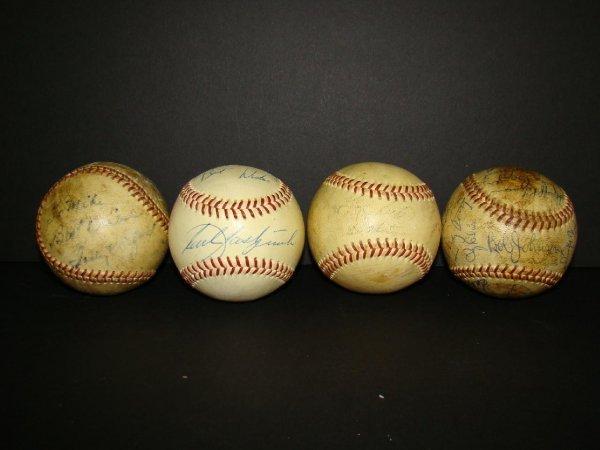 1021: Lot of Four Signed Baseballs.