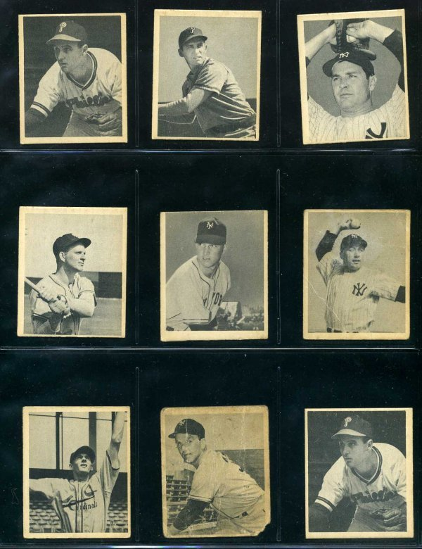 1023: Lot of 1948 Bowman Baseball Cards.