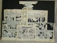 1403: D.C. Original Comic Art Lot. 1950's Pages.
