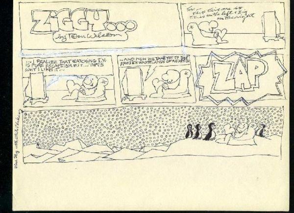 1425A: Original Ziggy Tom Wilson Sketch Drawing