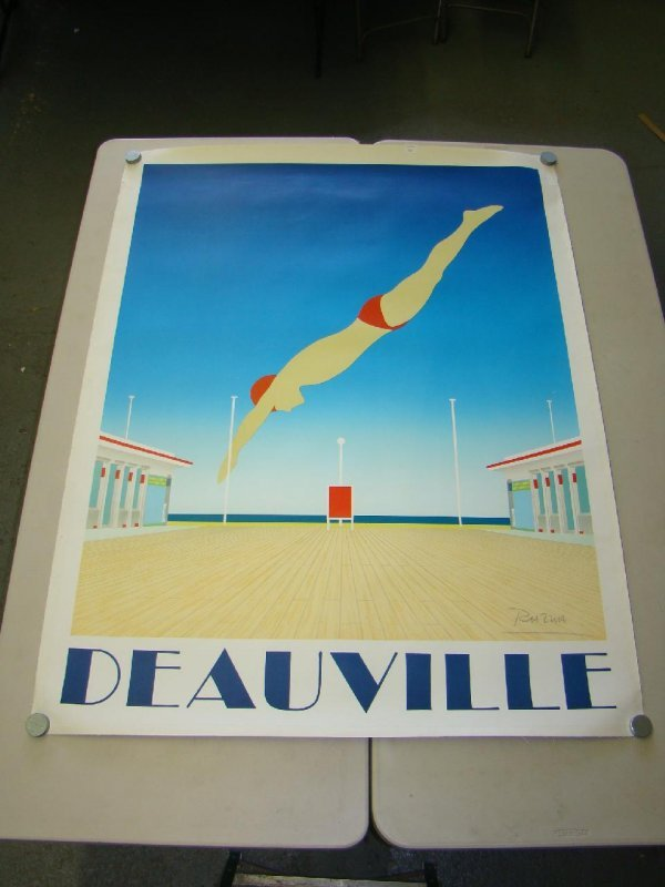 "2046: LINEN BACKED ""DEAUVILLE"" RAZZIA POSTER"