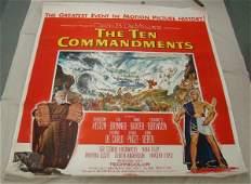The Ten Commandments 6 Sheet Movie Poster
