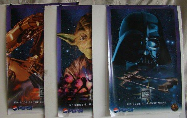 2111: 3 Star Wars Trilogy Pepsi Promo Posters