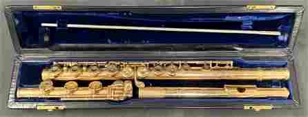 14K Gold Flute, Verne Q. Powell