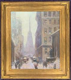 "Guy Wiggins (1883-1962), O/C ""Wall Street"""