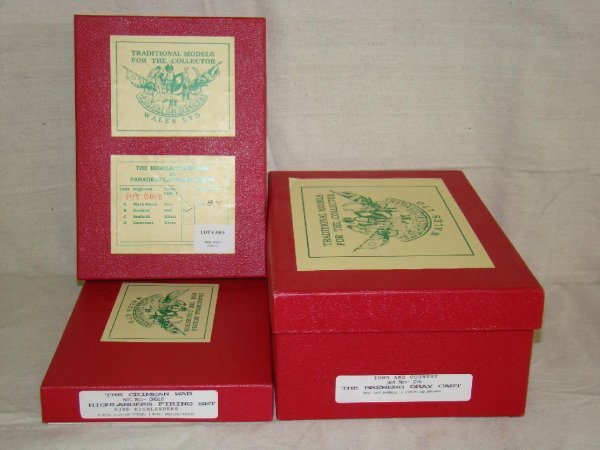 3015: Tradiiton Toy Soldiers. Lot of 3 Boxed