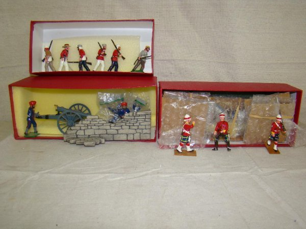3016: Trophy Miniatures Toy Soldiers. Lot of 3 Bxd