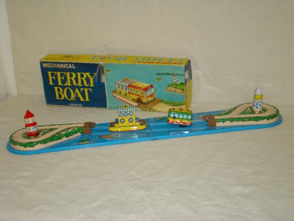 3183: Boxed Mechanical Ferry Boat Toy