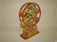 3198 Vintage Chein Tin Litho Windup Ferris Wheel