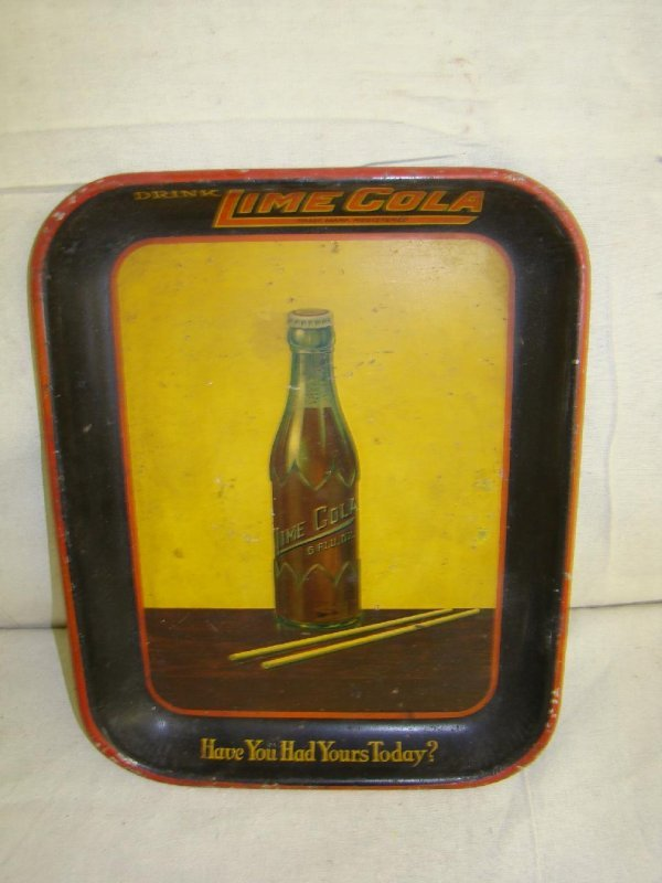 4007: Lime Cola Advertising Tray