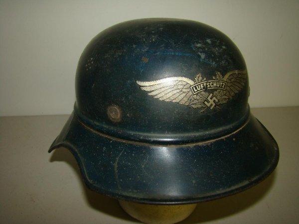 12: 3 Reich RLB Luftschutz Steel Helmet