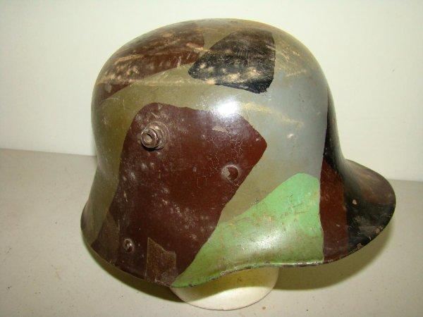 14: Vintage German Camo WWII Helmet