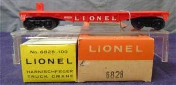 Scarce Boxed Lionel 6828 P&H Crane, Red