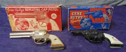 2 Boxed Kenton Gene Autry Cap Pistols