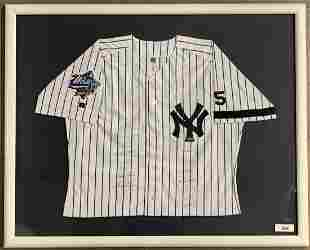 1999 New York Yankees Team Signed Jersey