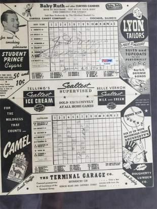 DiMaggio Rizzuto Scorecard Signed