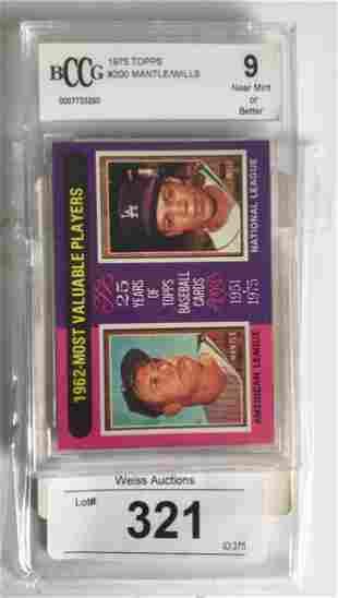 1975 Topps Card 200 Beckett Graded 9