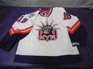 Dominic Moore Autographed NY Rangers Jersey