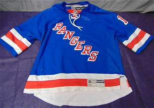 Marc Staal Autographed NY Rangers Jersey