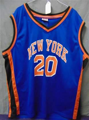 Allan Houston Signed NY Knicks Jersey