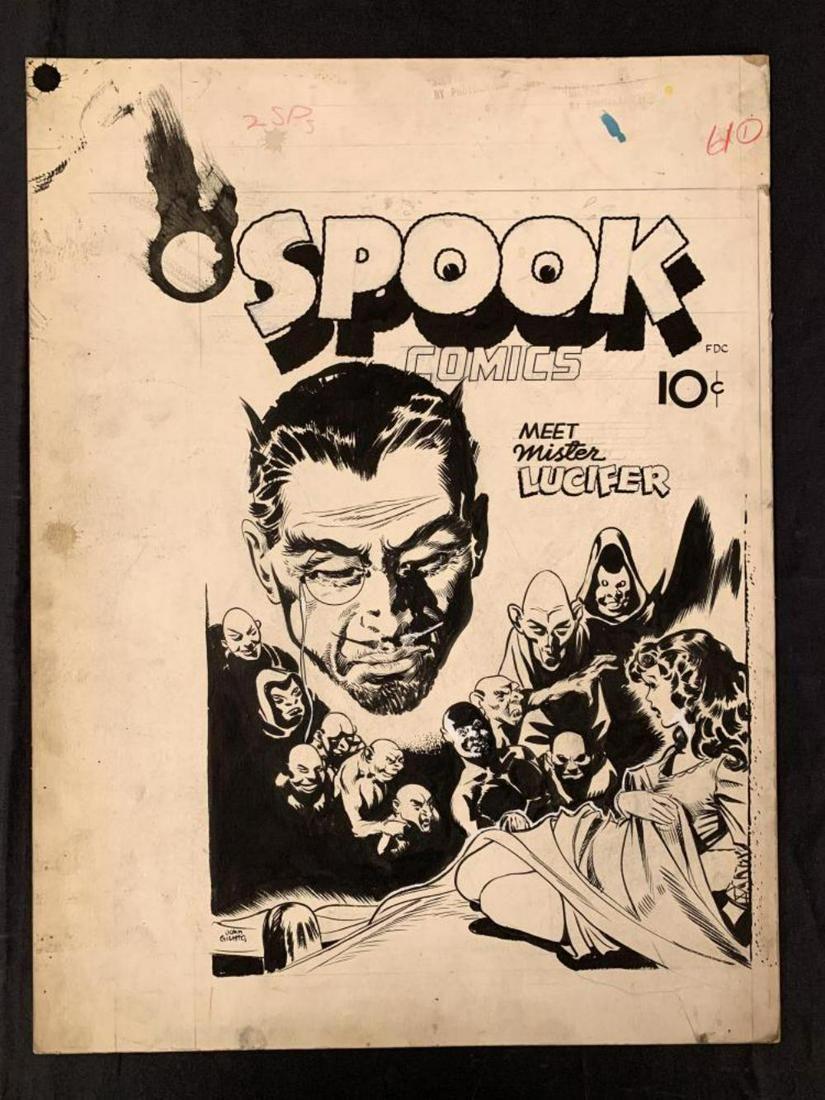 John Giunta. Spook Comics Original Cover.