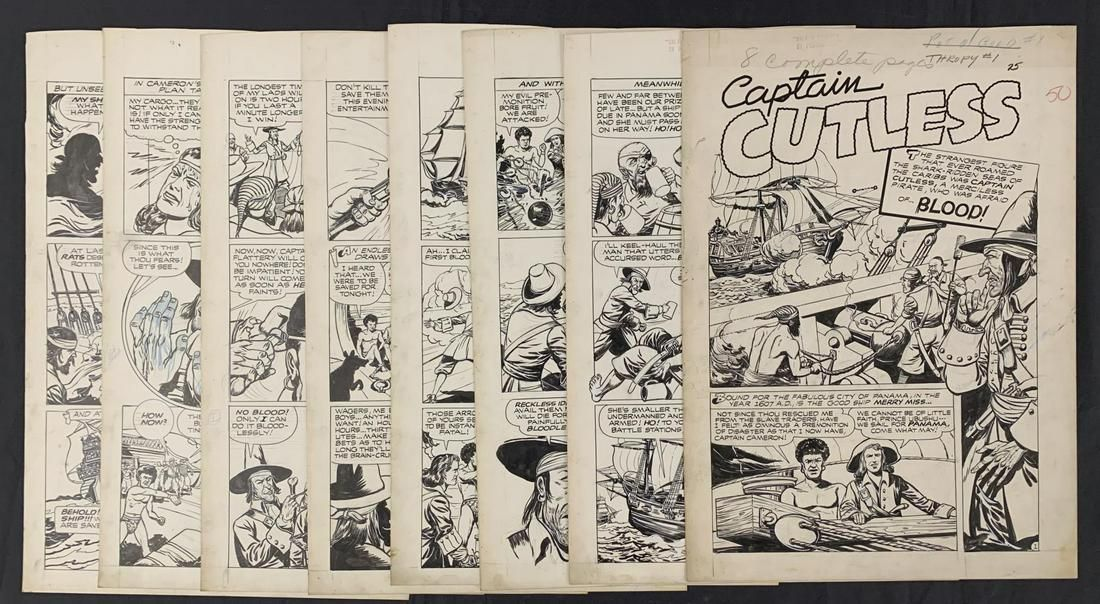 Trophy Comics # 1 (8) Page Golden Age Story.
