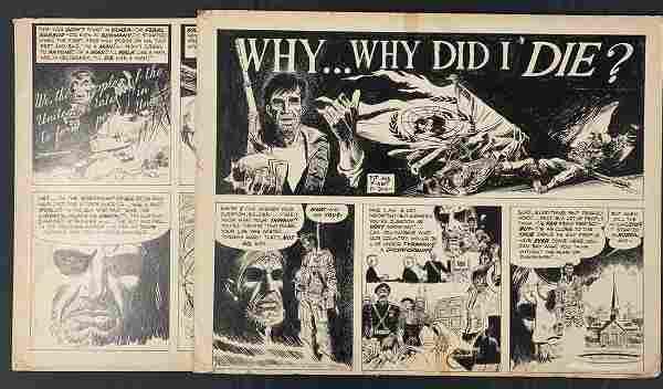 Joe Kubert. Why Did I Die? Original Story Boards.