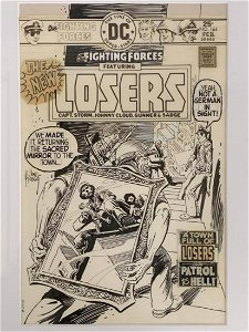 Kubert. Our Fighting Forces Cover Art #164.
