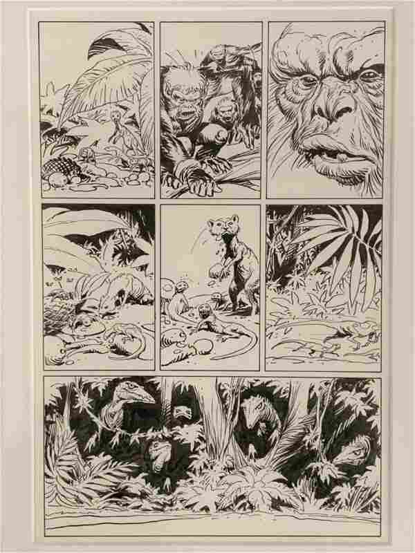 Kubert. Tor. Original Comic Page.