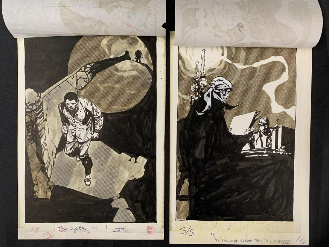 2 Pcs, Alex Nino Original Novel Illustration Art