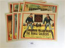 John Wayne The Horse Soldiers Lobby Card Set