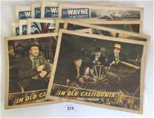 John Wayne Lobby Card Lot 11 Cards