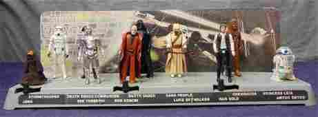 1977 Star Wars Mail Away Display Stand w/10 Figs