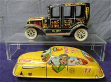 2 Vintage Marx Tin Vehicles