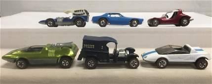 6 Vintage Red Line Hot Wheels Vehicles