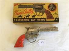 Gene Autry Cap Pistol Boxed.