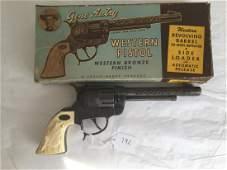 Leslie Henry Gene Autry Cap Pistol Boxed.