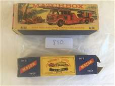 Matchbox. Lot of Two boxed.