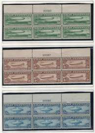 United States C13-15 Plate Blocks of Six.