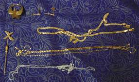Estate Gold Jewelry Lot